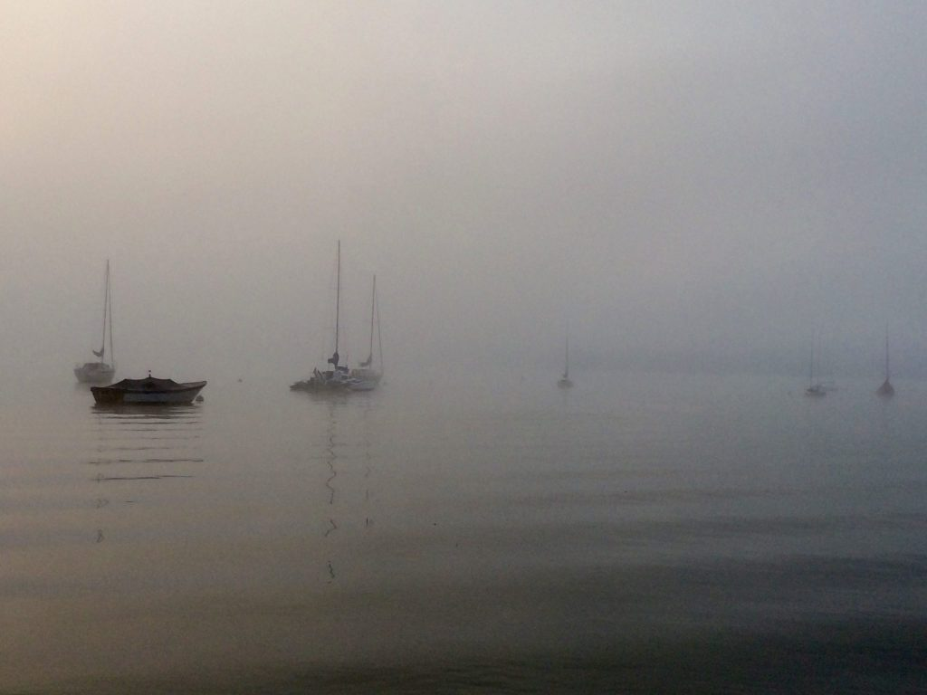 Foggy morning on Chautauqua lake