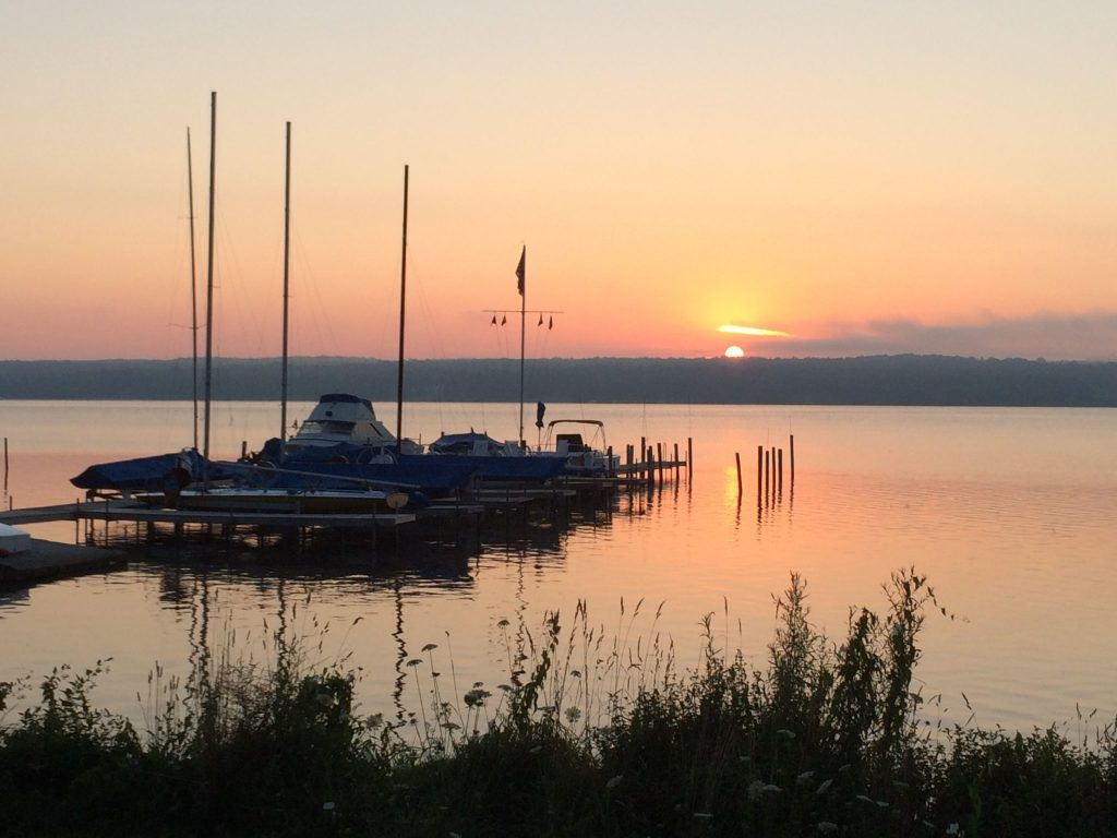 Sunrise over Chautauqua Lake (Photo: Alan Seale)