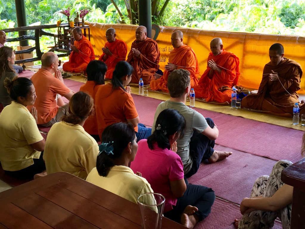 Buddhist Blessing Ceremony, Anurak Lodge, Thailand (Photo: Alan Seale)