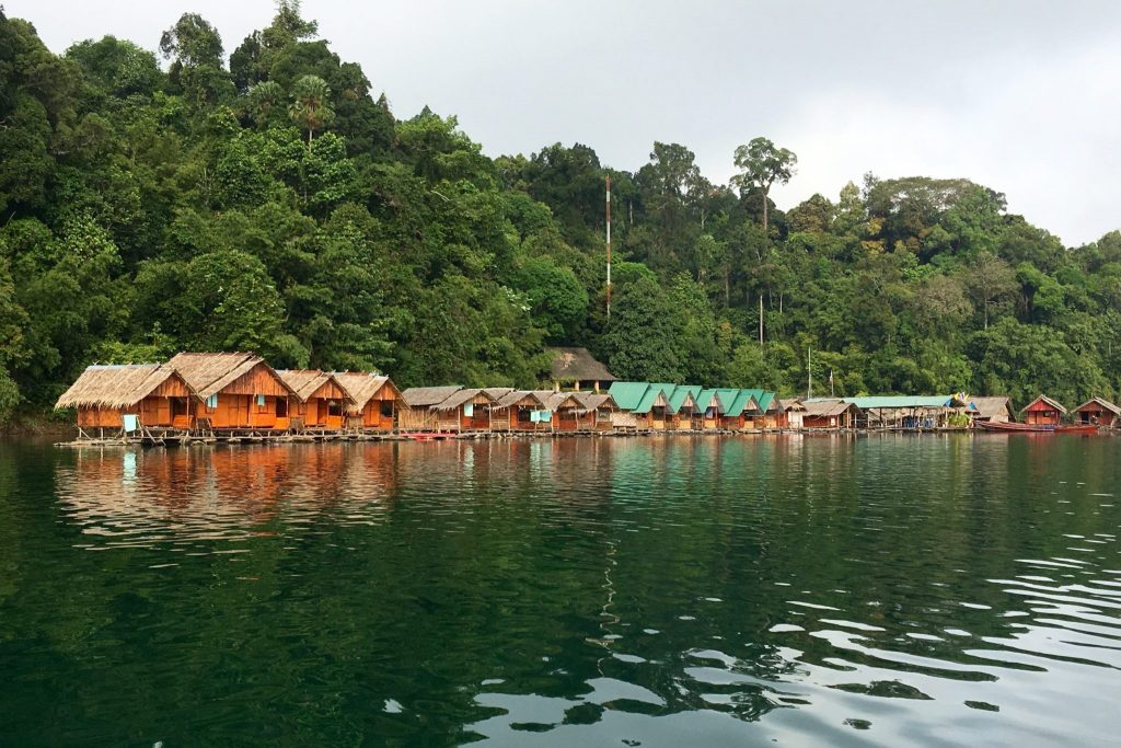 Floating Lodge, Rachaprabha Lake, Thailand (Photo: Alan Seale)