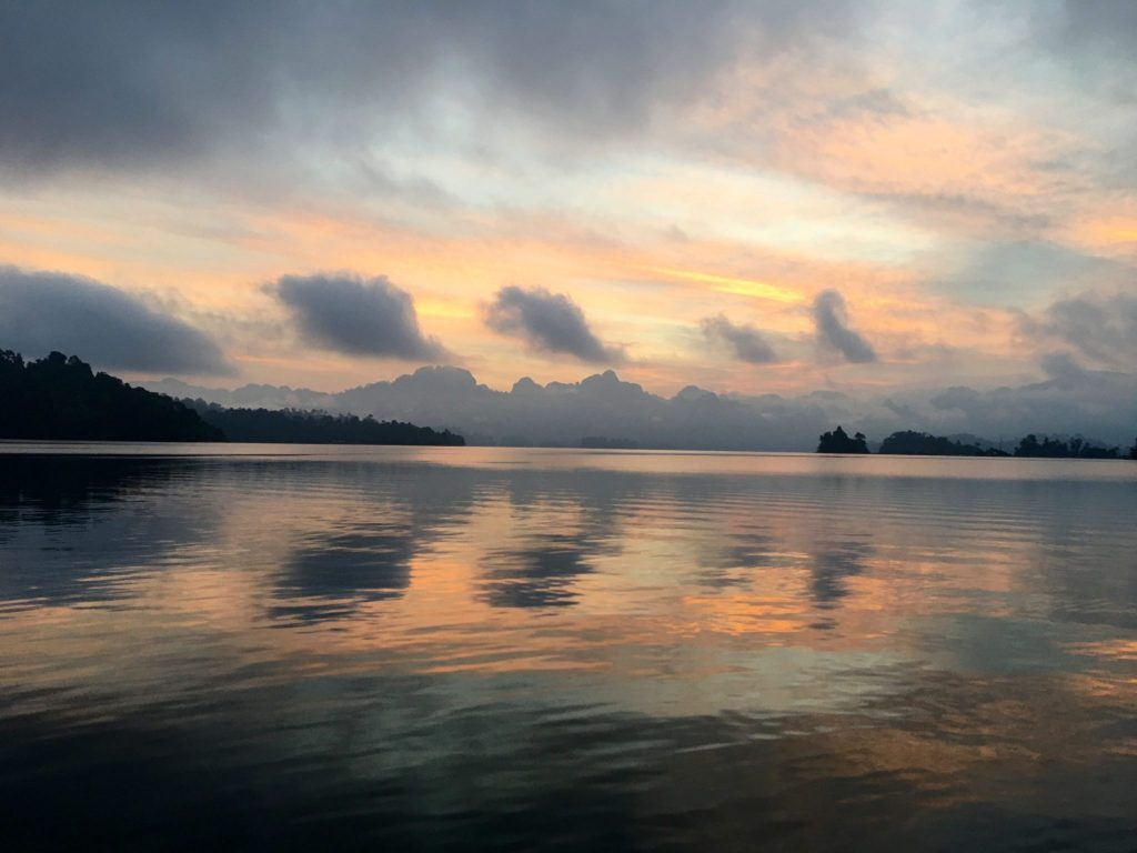 Dawn over Rachaprabha Lake, Khao Sok National Park, Thailand (Photo: Alan Seale)