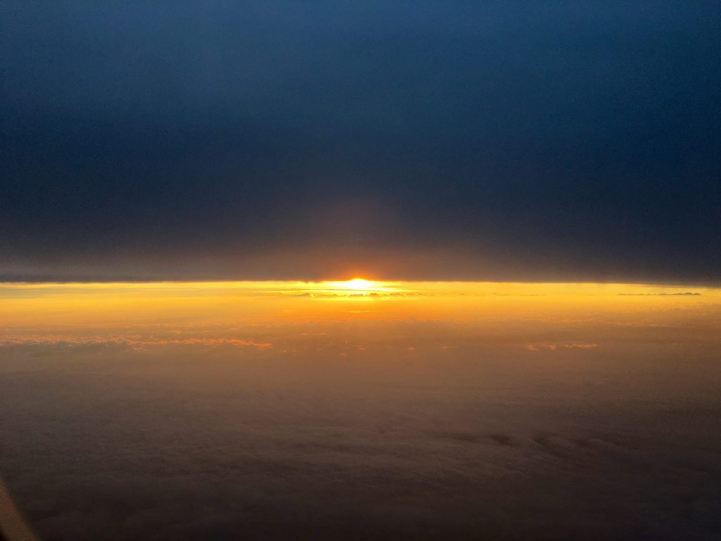 Sunrise at 37,000 feet over Siberia (Photo: Alan Seale)
