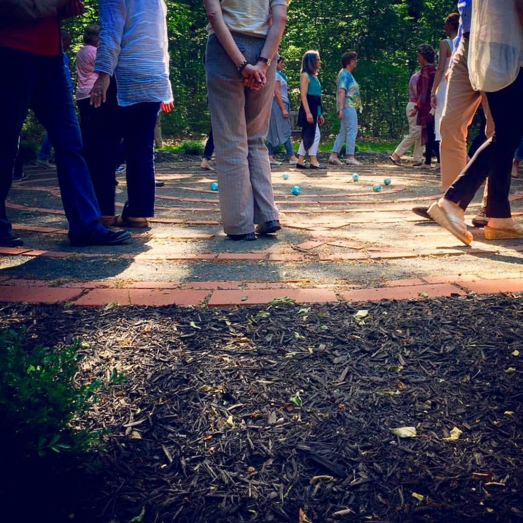 Walking the Labyrinth on Opening Day of the 2016 Transformational Presence Global Summit