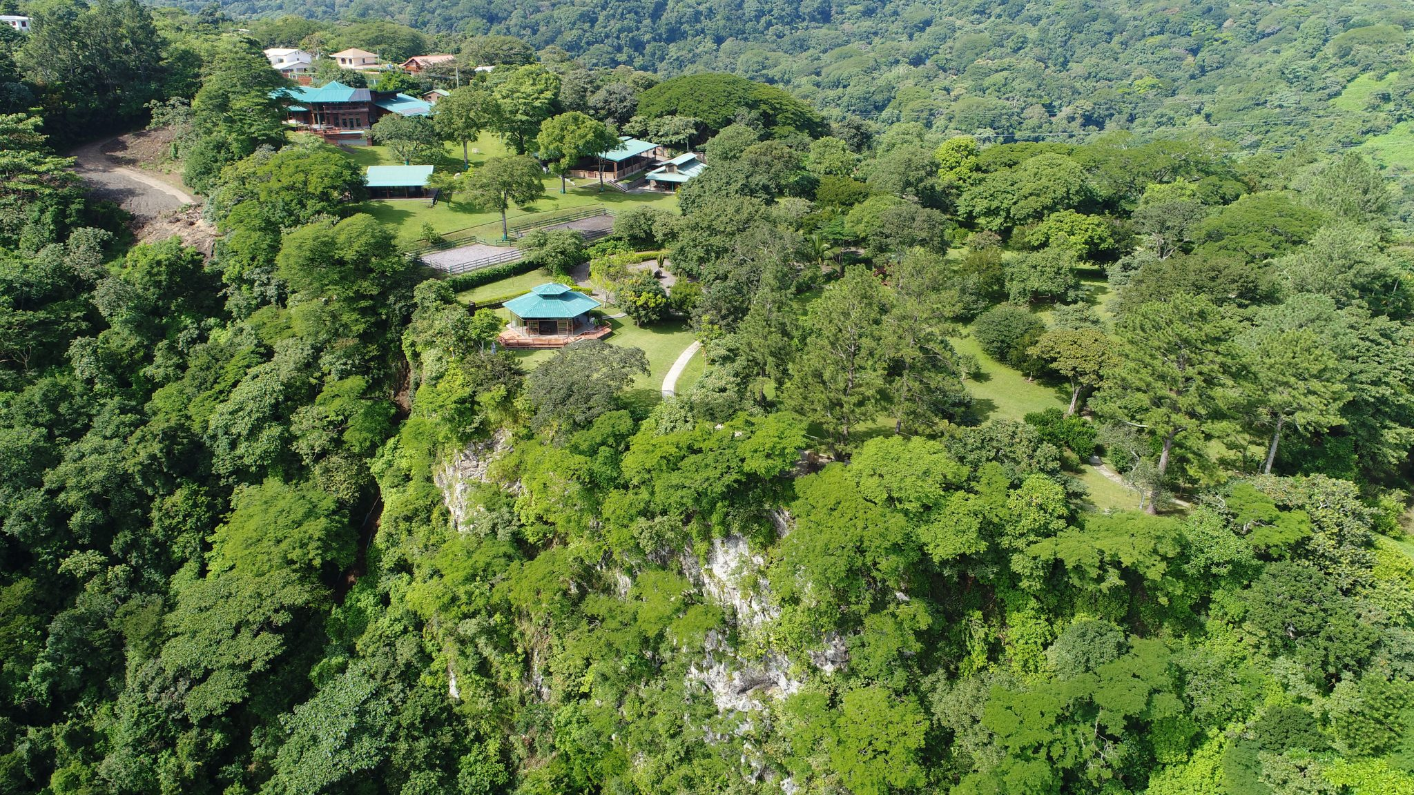 An aerial view of Kantara, home of Transformational Presence in Central America