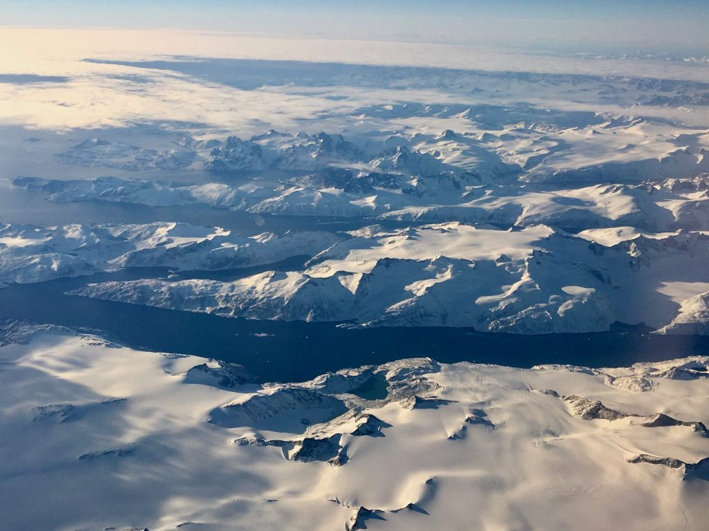 Southern tip of Greenland from 28,000 feet (Photo: Alan Seale)