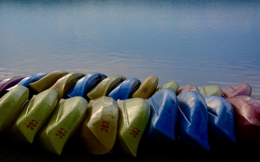 Canoes at Boy's Club, Chautauqua